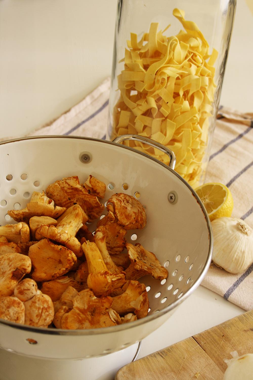 recipe pasta mit eierschwammerl
