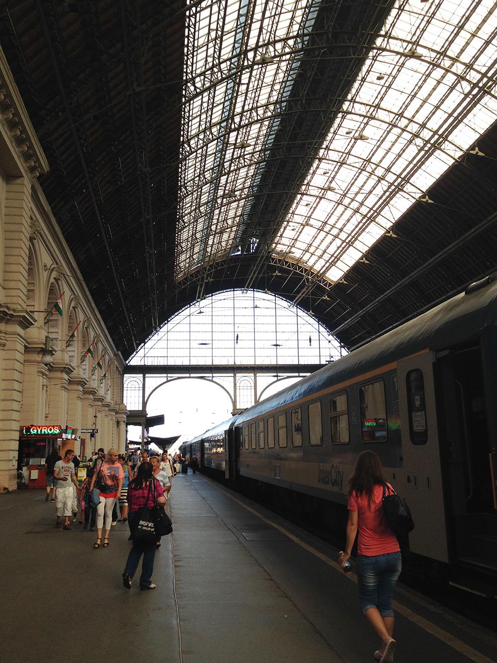 Im Zug von Budapest nach Wien