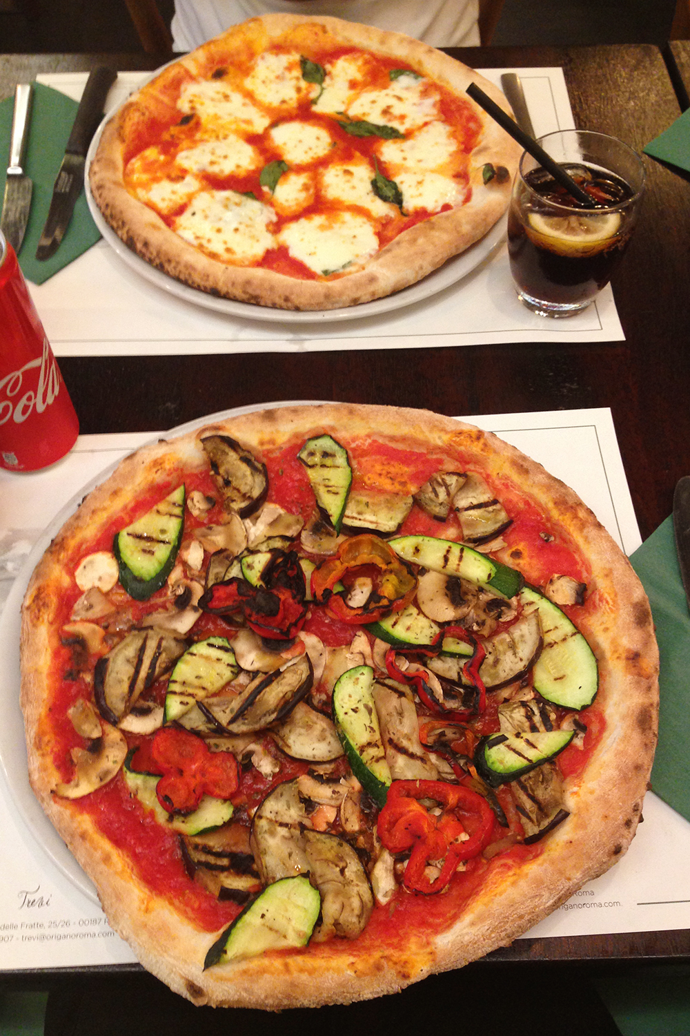 vegan essen in rom pizza